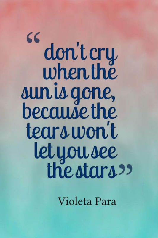 Don't Cry When The Sun Is Gone