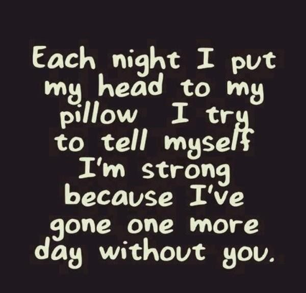 Picture: Each Night I Put My Head To My Pillow I Try To Tell Myself