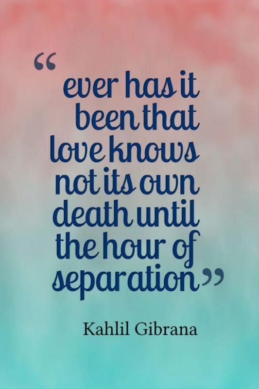 Ever Has It Been That Love Knows Not Its Own Death Until