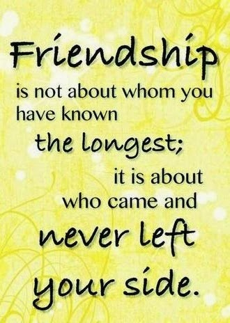 Friendship Is Not About Whom You Have Known