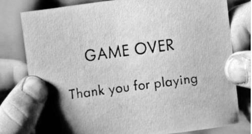 Game Over Thank You For Playing