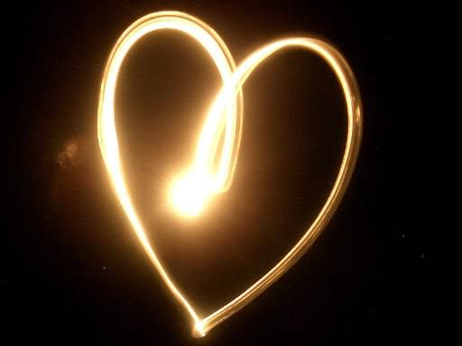Glowing Heart Picture