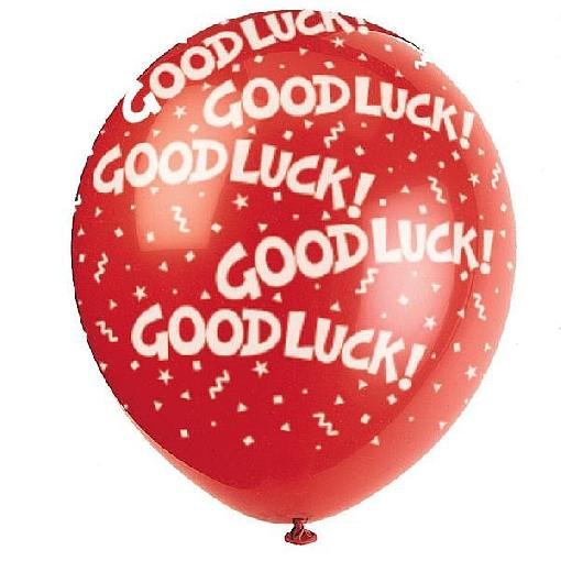 Good Luck Red Baloon Graphic
