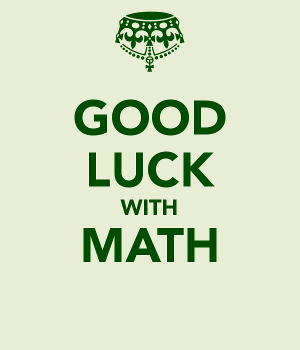 Good Luck With Math