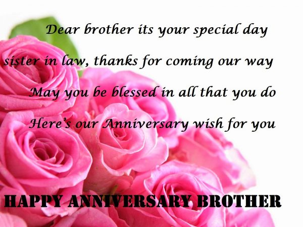 Happy Anniversary Brother