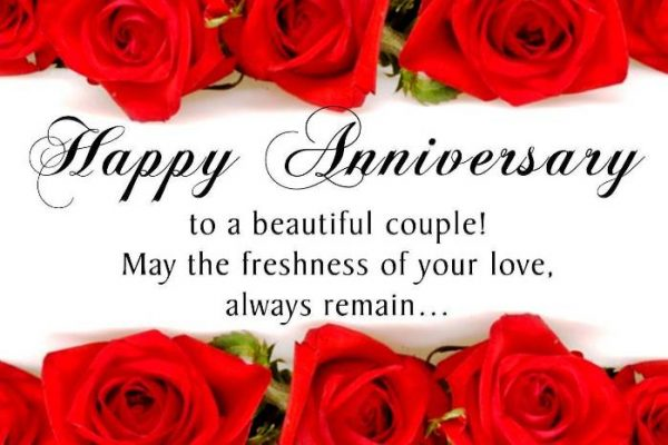 Happy Anniversary To A Beautiful Couple !