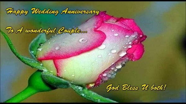 Happy Wedding Anniversary To A Wonderful Couble