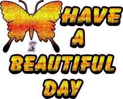 Have A Beautiful Day Butterfly Glitter