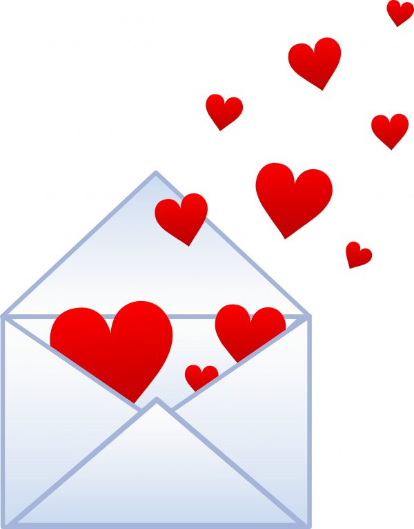 Hearts Envelope Image