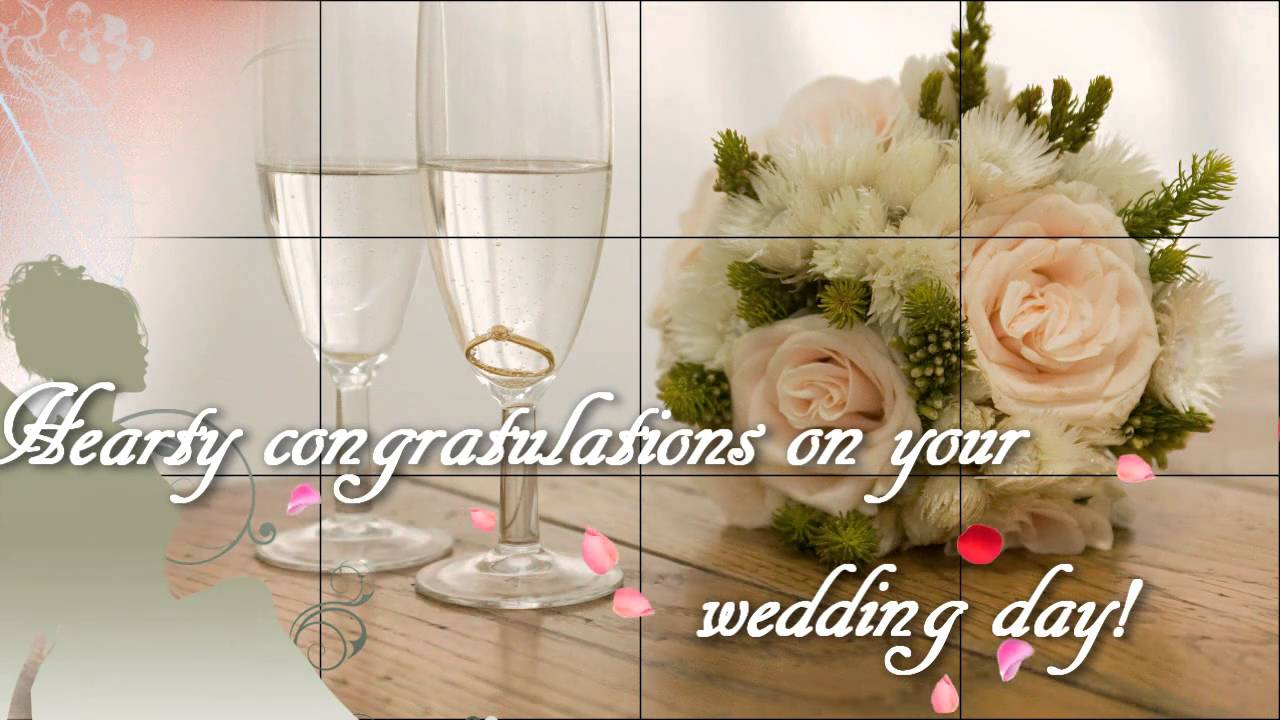 Hearty Congratulations On Your Wedding Day