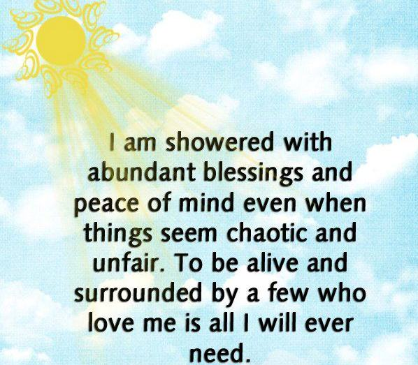 I Am Showered With Abundant Blessings