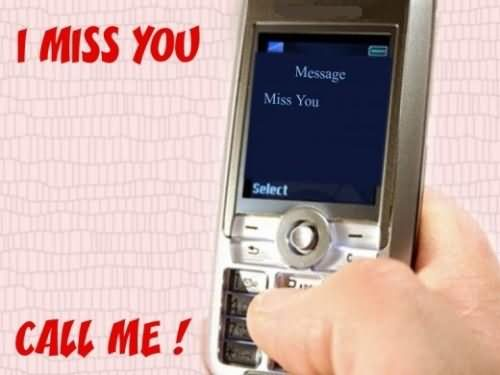 I Miss You Call Me Graphic