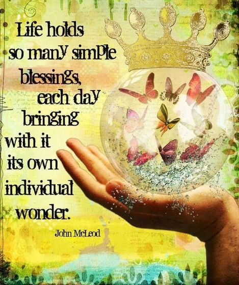 Life Holds So Many Simple Blessings