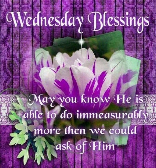 May You Know He Is Able To Do Immeasurably More Then We Could Ask Of Him