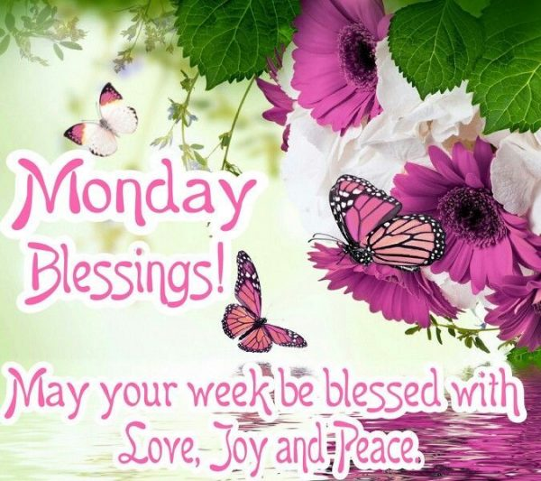 May Your Week Be Blessed With Love Joy And Peace