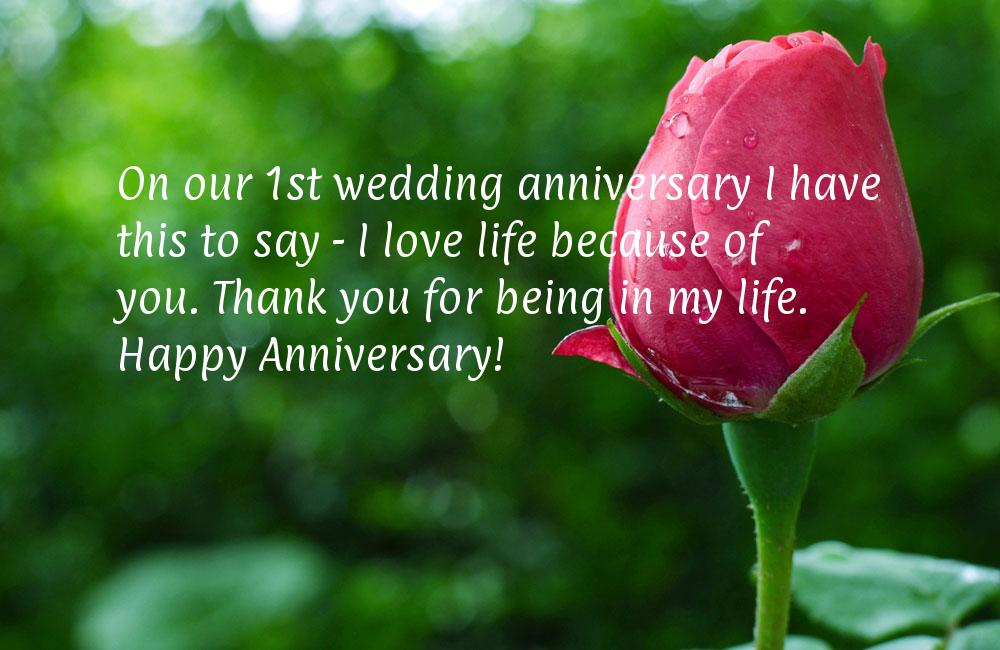 On Our First Wedding Anniversary