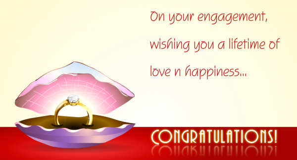 On Your Engagement Wishing You A Lifetime Of Love N Happiness