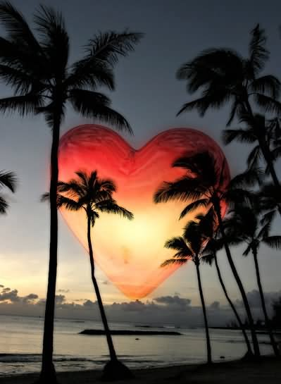 Sunset Heart Picture