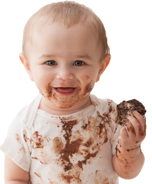 Sweet Baby Eating Chocolate Picture