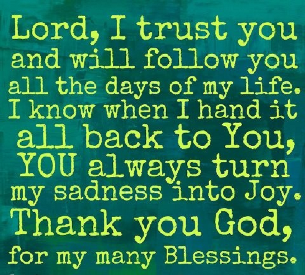 Thank You God For My Many Blessings