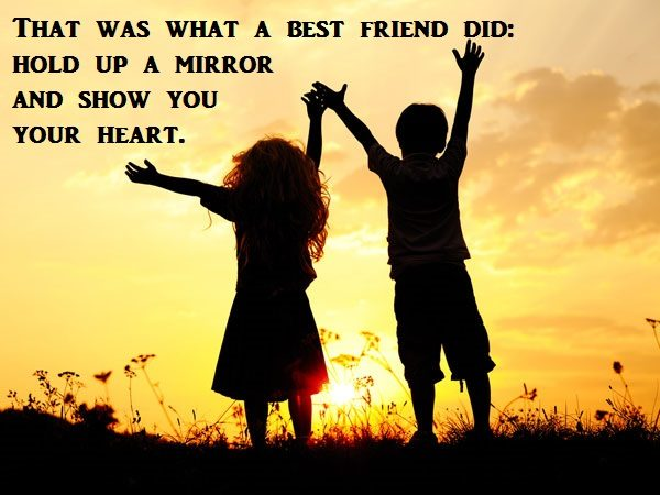 That Was What A Best Friend Did