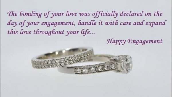 The Bonding Of Your Love Was Officially Declared On The Day Of Your Engagement