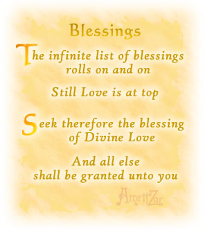 The Infinite List Of Blessings Rolls On And On Still Love Is At Top