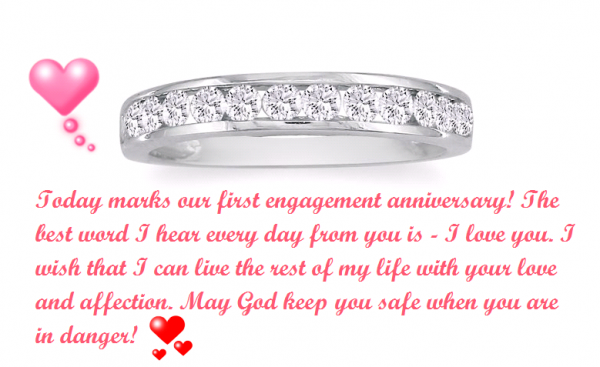 Today Makes Our First Engagement Anniversary