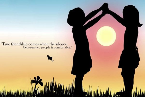 True Friendship Comes When The Silence