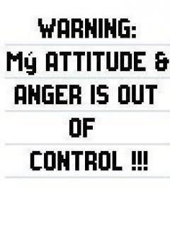 Warning My Attitude & Anger Is Out Of Control