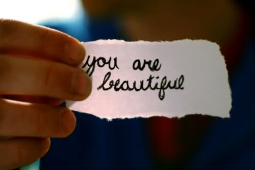 You Are Beautiful Note Photo