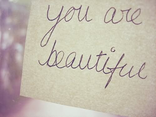 Your Are Beautiful Note Graphic