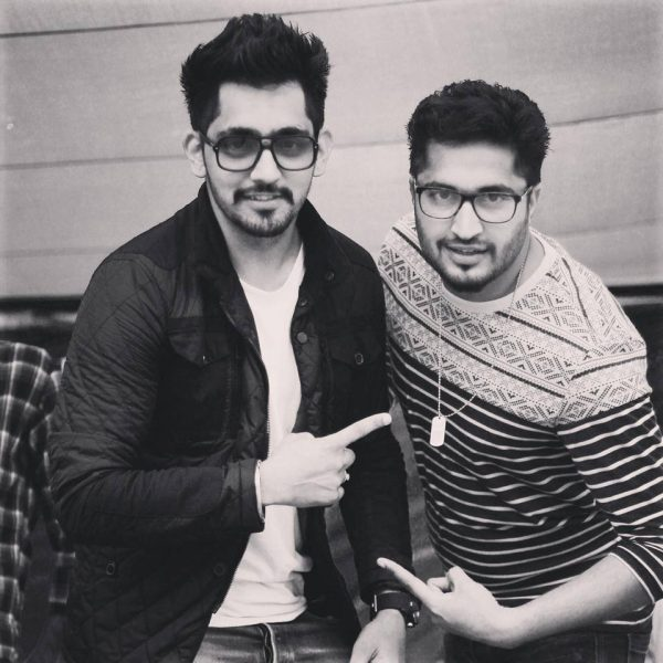 Black And White Image Of Babbal Rai And Jassi Gill