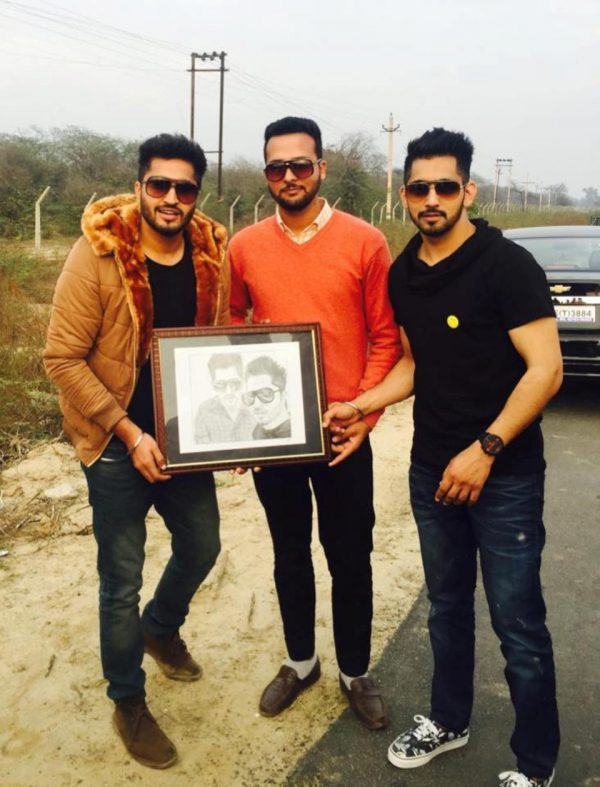Jassi Gill And Babbal Rai With Fan