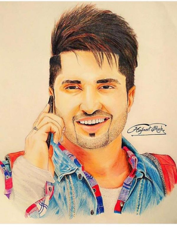 Sketch Of Jassi Gill