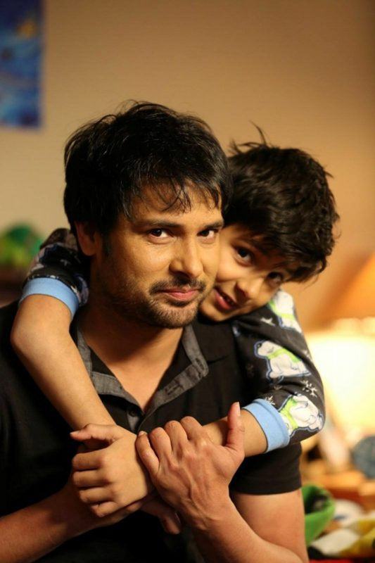 Amrinder Gill With Child Actor