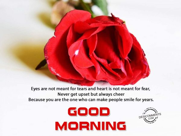 Eyes Are Not Meant For Tears - Good Morning