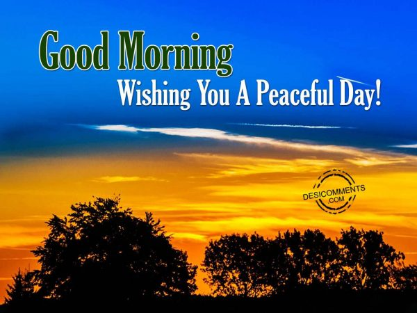 Good Morning - Wishing You A Happy Day