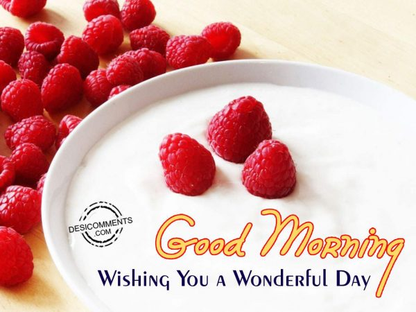 Image Of Wishing You A Wonderful Day - Good Morning