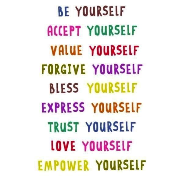 Be Yourself Accept Yourself