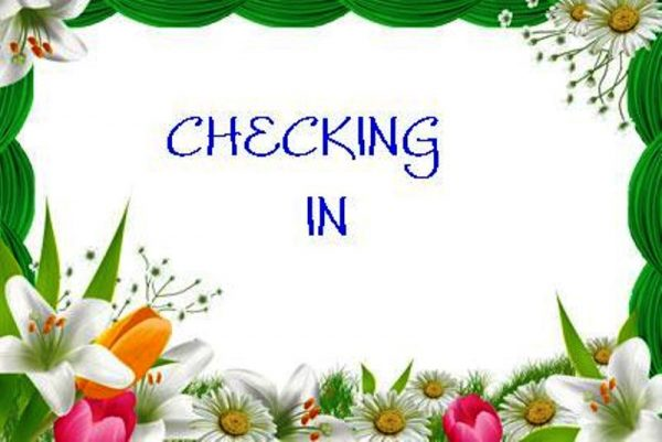 Checking In Photo