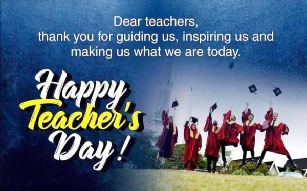 Picture: Dear Teachers Thank You For Guiding Us