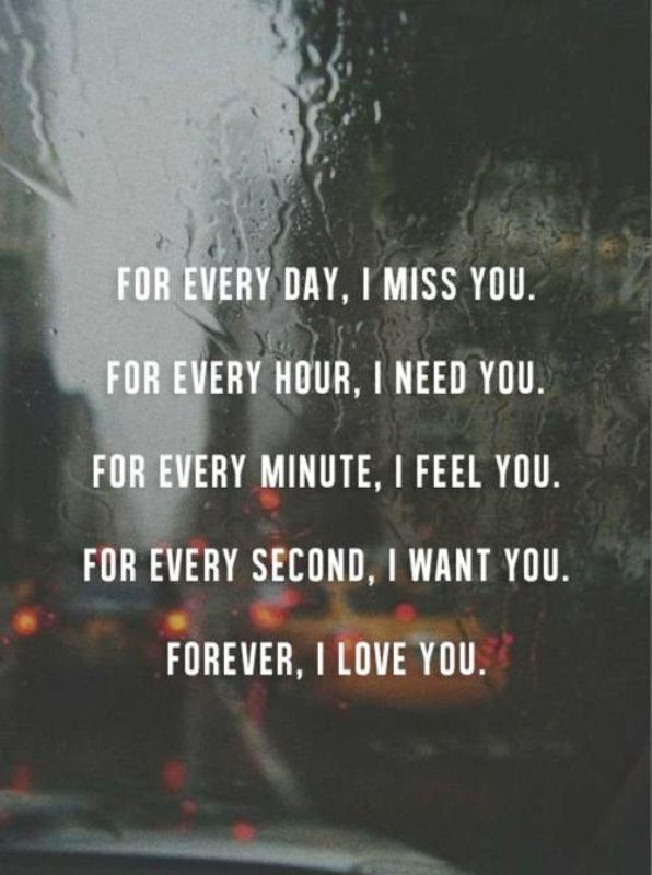 For Every Day I Miss You