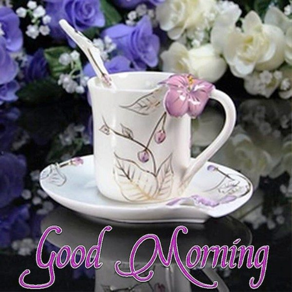 Good Morning With Beautiful Cup