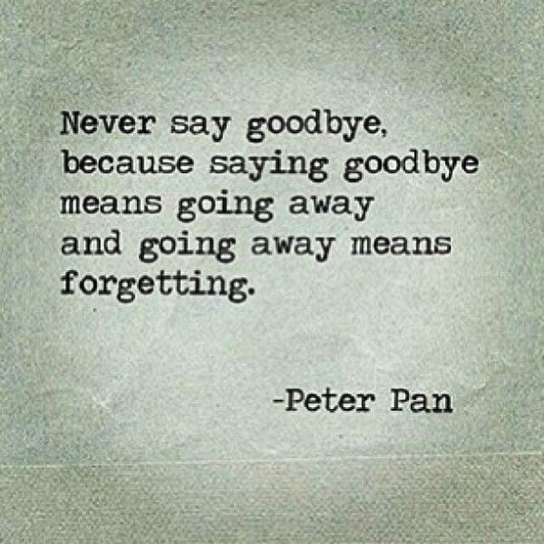 Goodbye Means Going Away