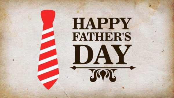 Happy Fathers Day With Red Tie