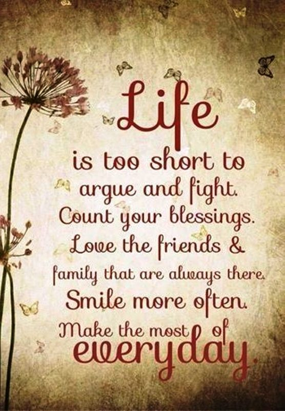 Life Is Too Short To Argue