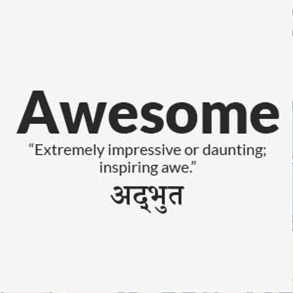 Meaning Of Awesome