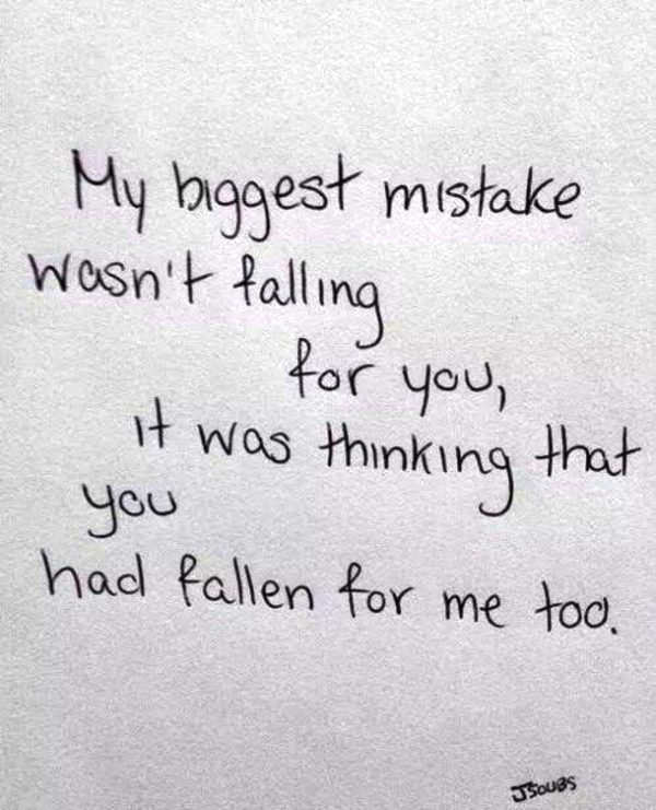 My Biggest Mistake Doesnt Falling