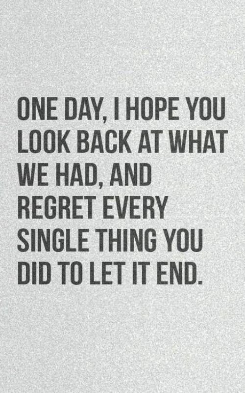 One Day I Hope You Look Back